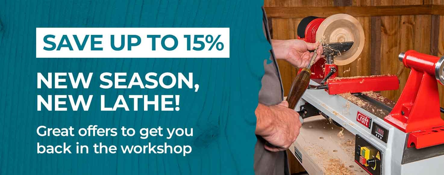 Axminster Woodturning Lathes Offer