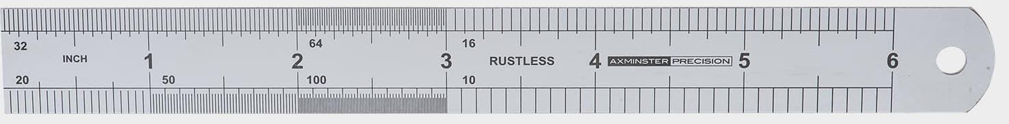 Axminster Precision 64R Rustless Steel Rule